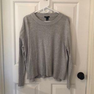 light gray oversized sweater